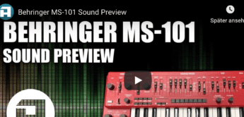 Video: Behringer MS-101 Analog-Synthesizer