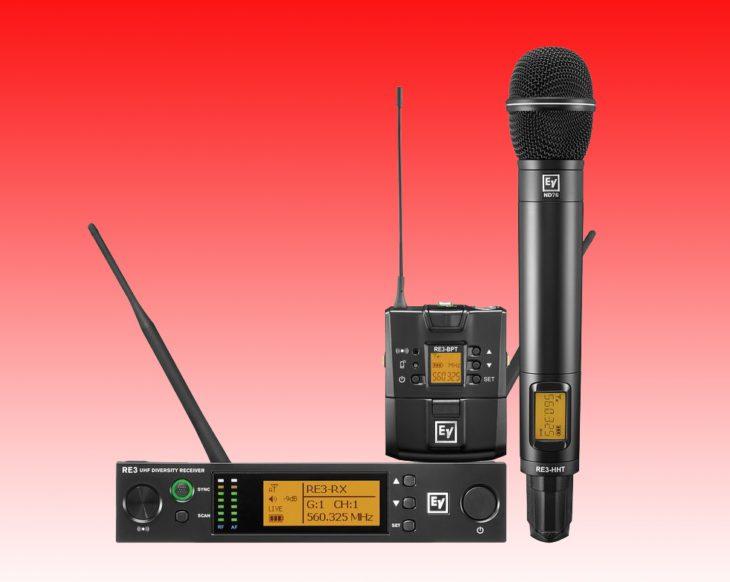 Electro-Voice stellt neue RE3 UHF-Serie vor