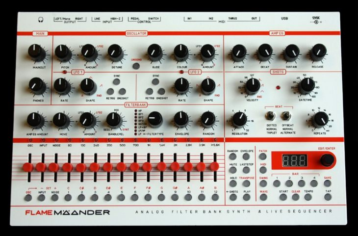 Flame Mäander Desktop-Synthesizer aus Berlin