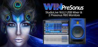 Gewinnspiel: PreSonus StudioLive 16.0.2 USB Mixer & 2 PreSonus R65 Monitore