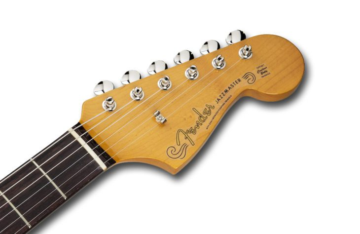 Fender Tradnl 60S Jazzmaster BL-FLWR headstock