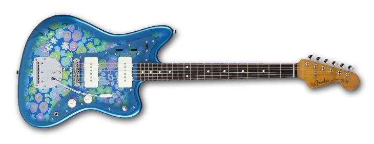 Fender Tradnl 60S Jazzmaster BL-FLWR top