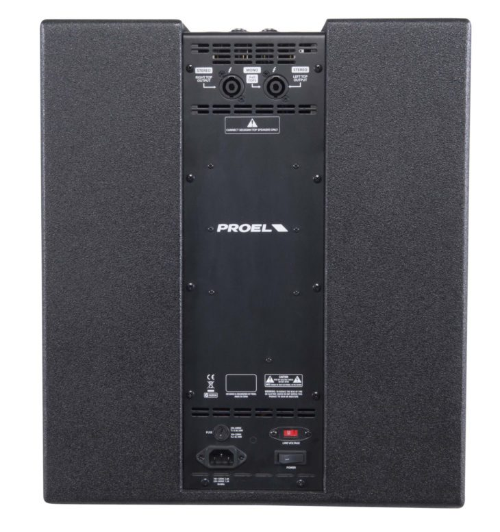 Proel Session 4 Subwoofer Rueckseite