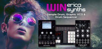 Gewinnspiel: Erica Synths Sample Drum,  Graphic VCO & Drum Sequencer