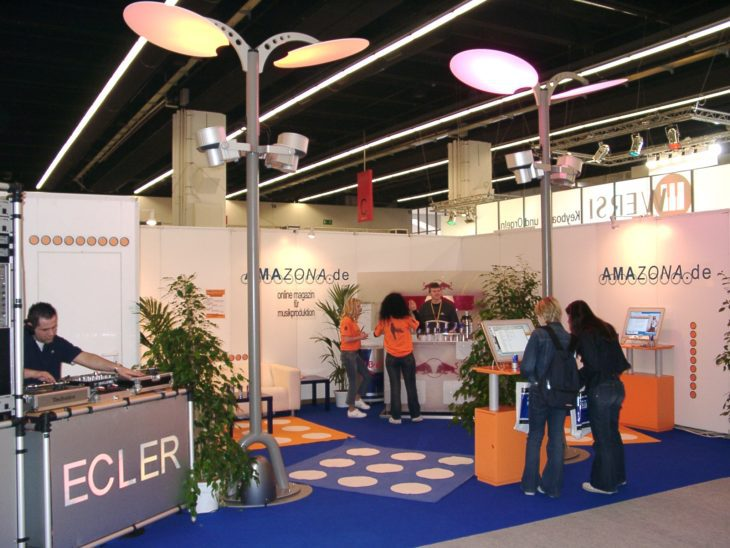 Amazona Messestand Musikmesse 2002