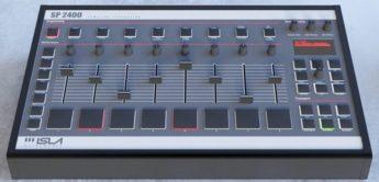 Isla Instruments SP 2400 Sample-Drummachine, ein E-Mu SP 1200 Clone