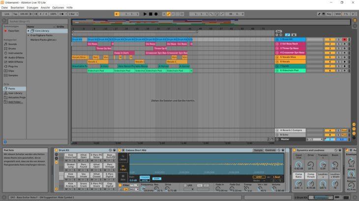 Ableton Live 10 Lite gehört mit zum Lieferumfang
