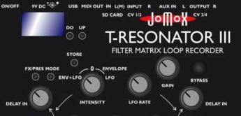 Jomox T-Resonator Mk3, mit Aufnahme von Audio und Reglern