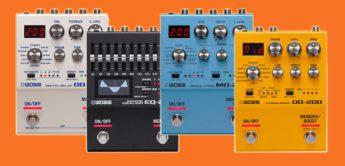 Neue BOSS 200 Serie: DD-200 EQ-200 MD-200 OD-200 Effektpedale
