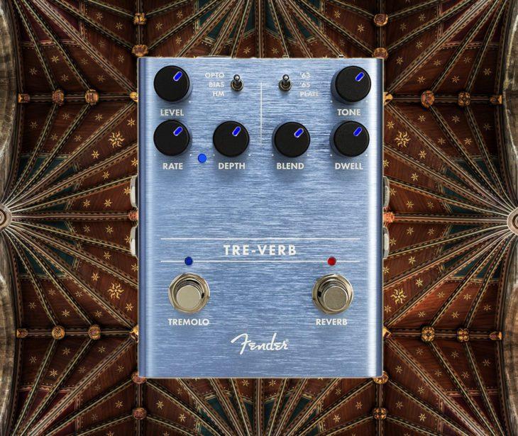 Fender Tre-Verb Gitarren Hallpedal