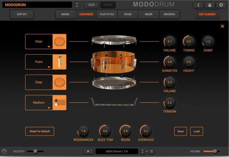 IK Multimedia Modo Drum - editing