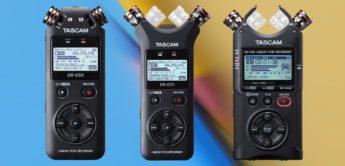 Test: Tascam DR-05X, DR-07X, DR-40X, mobile Recorder