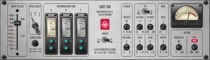 In Conny's Studio befanden sich zwei dieser EMT 140 Hallplatten.