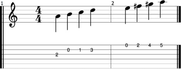 Harmonielehre verstehen - Teil 5 - abb3 melMoll NOTEN