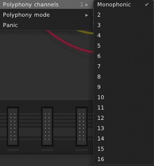 Die maximale VCV-Rack - Polyphonie beträgt 16 Stimmen pro Oszillator