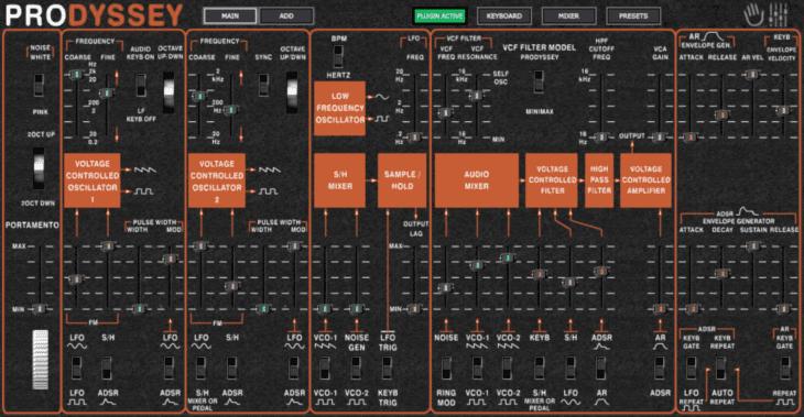 MakeProAudio Prodyssey GUI