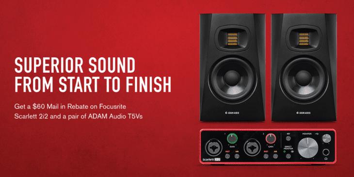 adam audio 75v scarlett 2i2