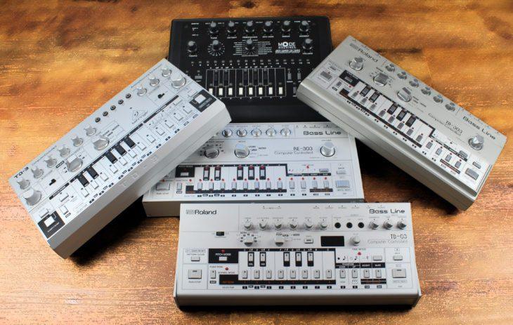Behringer TD-3 vs Roland Roland TB-303, RE-303, Xoxbox, TB-03
