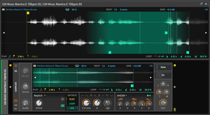 bitwig 16 track sampler