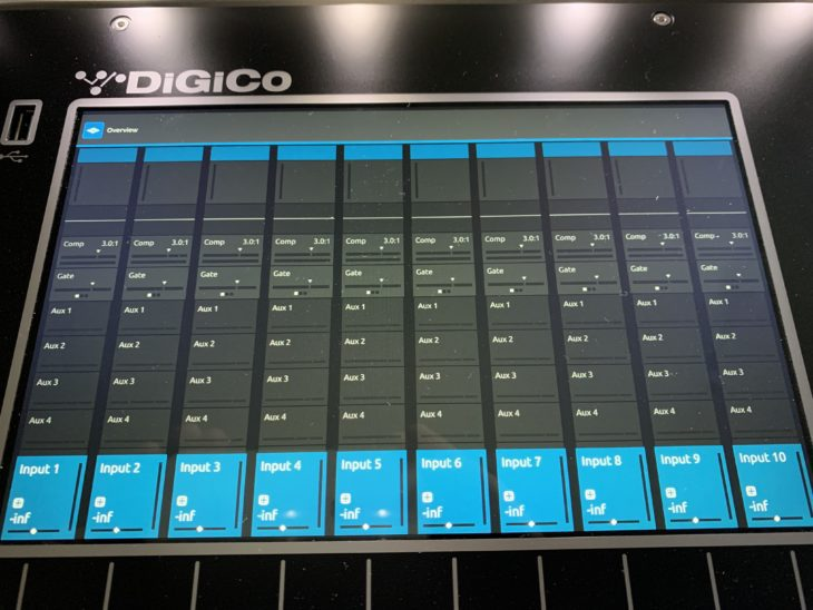 DiGiCo S21 Digitalpult-Display
