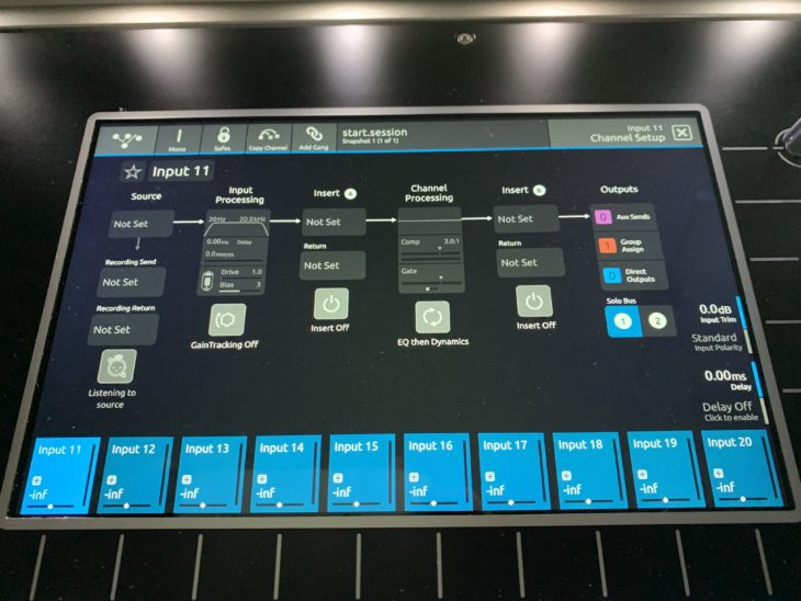 DiGiCo S21 Digitalpult-Signalflow-Kanal