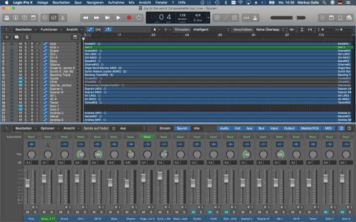 Live Recording_DAW Mixdown