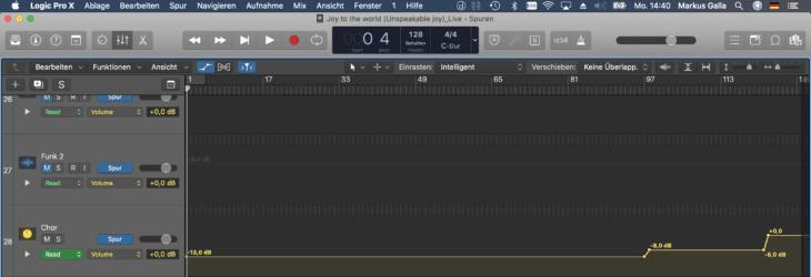 Live Recording_DAW Mixdown Bus Automation