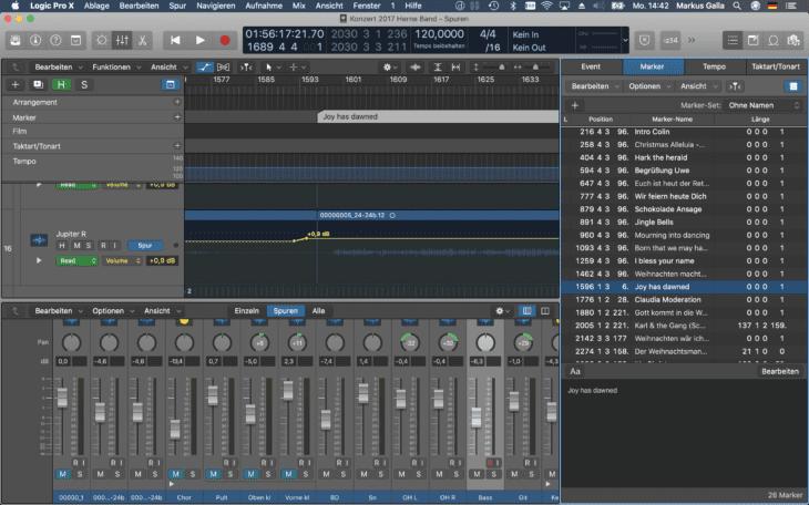 Live Recording_DAW Mixdown Marker