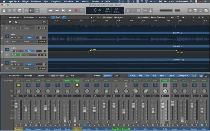 Live Recording_DAW Mixdown Spur Automation
