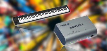 Nektar stellt MIDI-Interface MIDIFLEX4 und Keyboard GXP88 vor