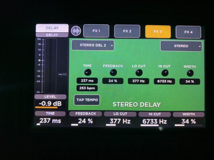 RCF M 20X Digital Mixer_Delay