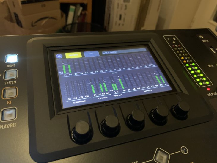 RCF M 20X Digital Mixer_Display
