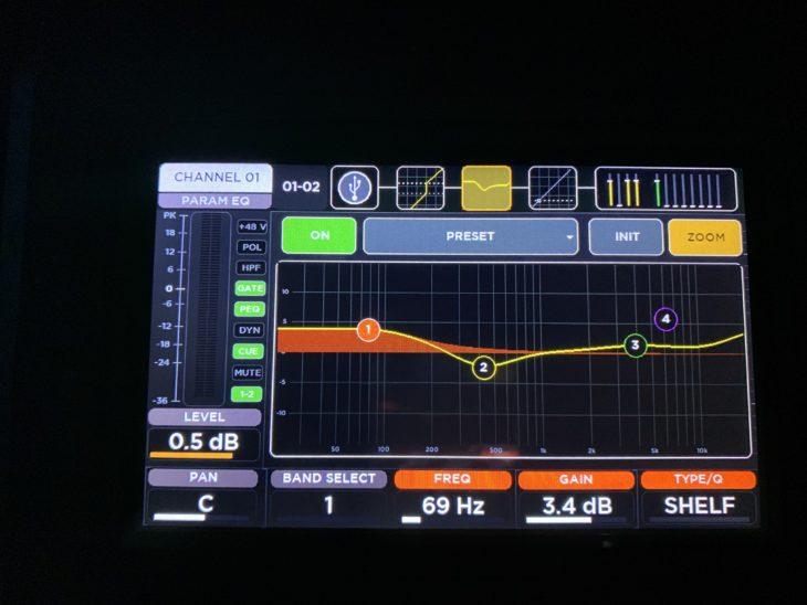 RCF M 20X Digital Mixer_EQ