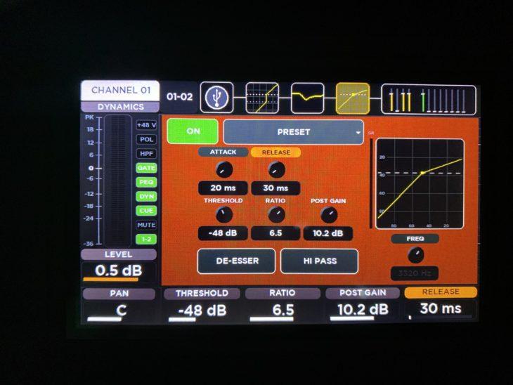 RCF M 20X Digital Mixer_Kompressor