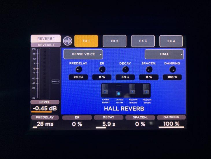 RCF M 20X Digital Mixer_Reverb