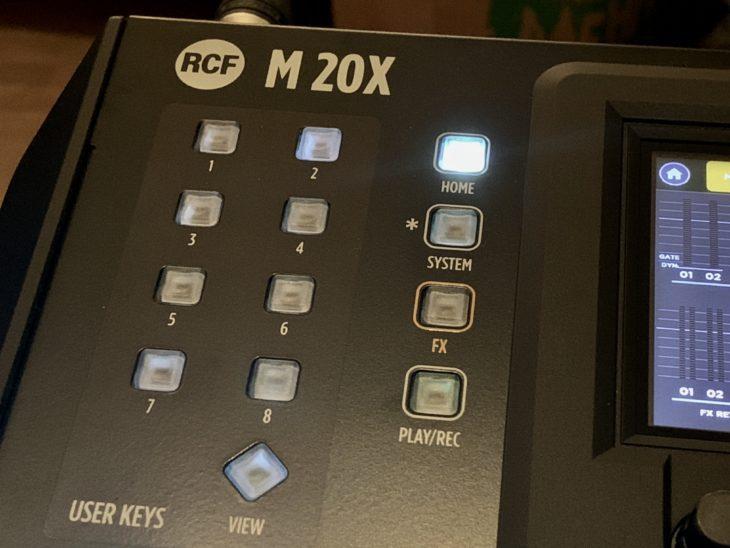 RCF M 20X Digital Mixer_User-Keys