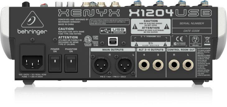 Test: Behringer Xenyx X1204 USB Kompaktmischpult Test: Behringer Xenyx X1204 USB Kompaktmischpult Test: Behringer Xenyx X1204 USB Kompaktmischpult