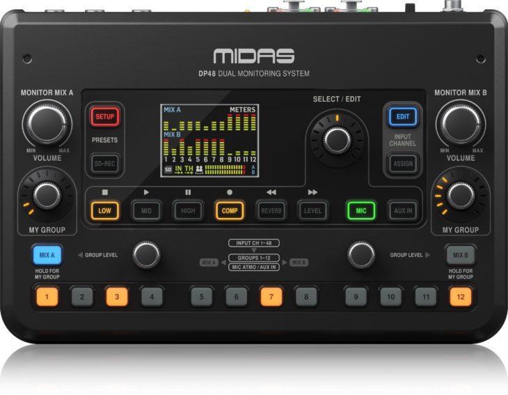 MIDAS DP48-Personal-Monitor-Mixer__P0BMX_Front