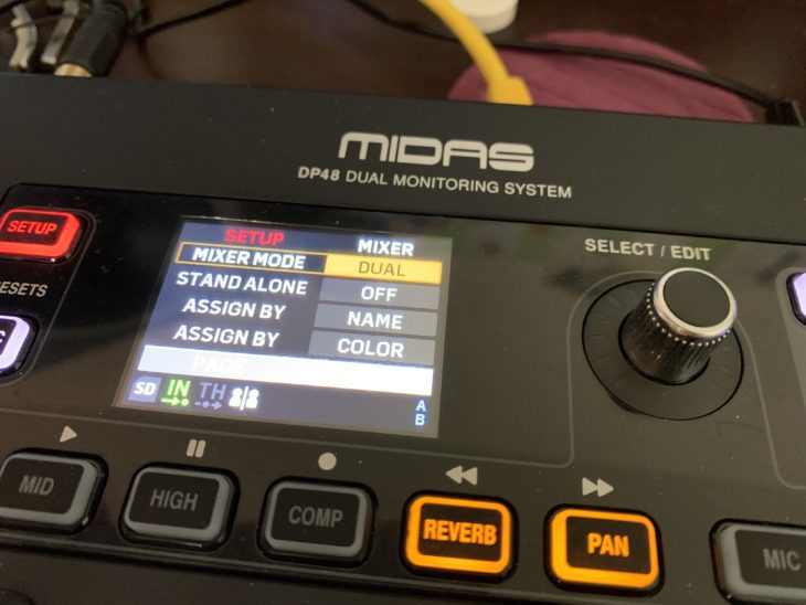 MIDAS DP48-Personal-Monitor-Mixer_Dual-Mode
