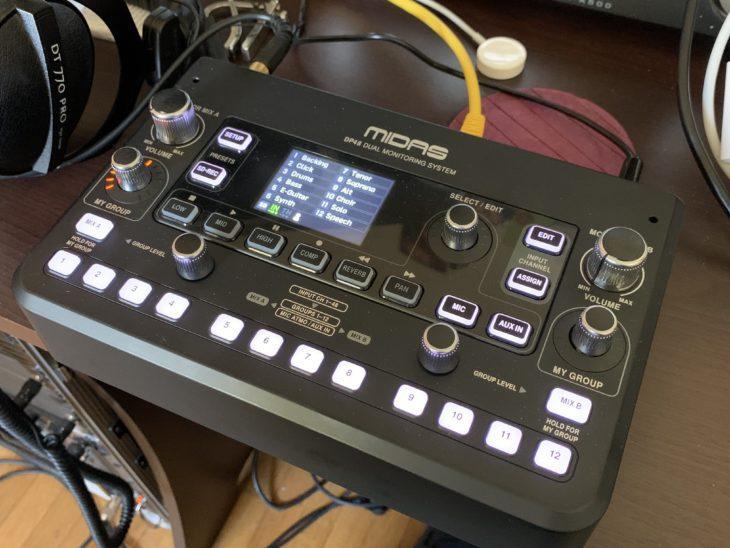 MIDAS DP48-Personal-Monitor-Mixer_Oberfläche