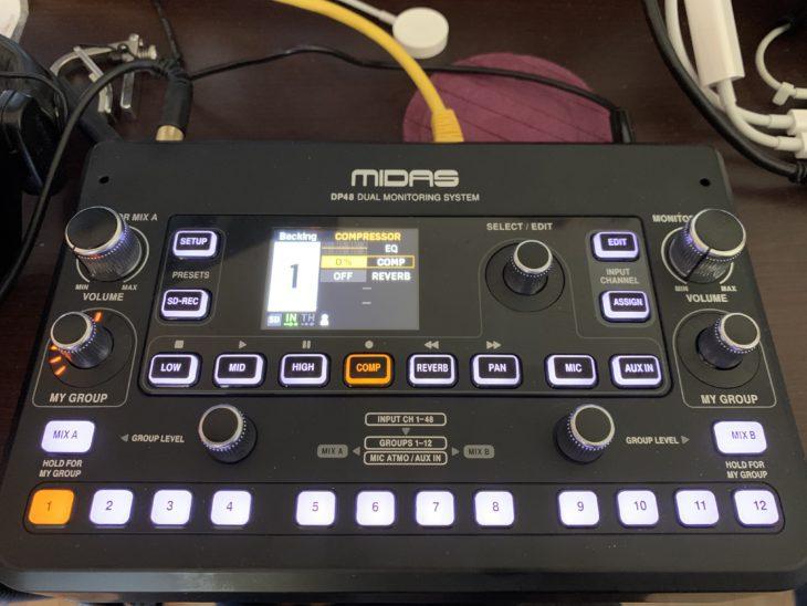 MIDAS DP48-Personal-Monitor-Mixer_Oberfläche_02