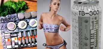 Roland TB-303 Hype – als Dose, Bikinis und mehr