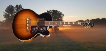 Test: Epiphone EJ-200 SCE VS, Semi Akustikgitarre