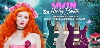 Gewinnspiel: Harley Benton Fusion-II HH Roasted SSP, EB Ocean Turquoise & EB PSP Pro Serie