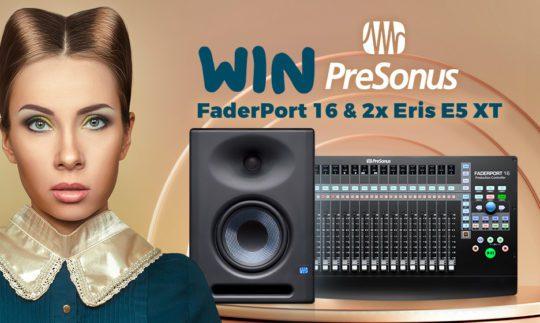 Gewinnspiel: PreSonus FaderPort 16 & 2x Eris E5 XT