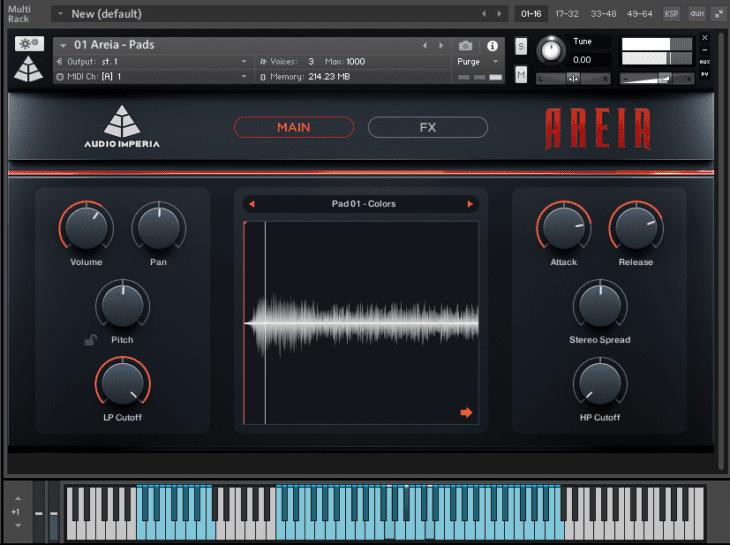 Sound Design Sektion AREIA