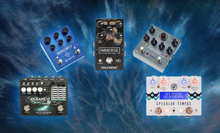 Klangvergleich Stereo-Reverb-Pedale für Gitarre und Synthesizer