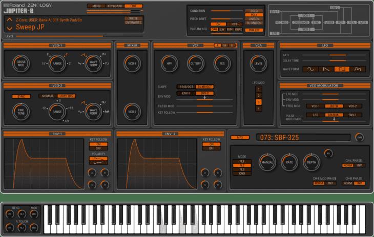 roland zenology jupiter-8 synthesizer plugin