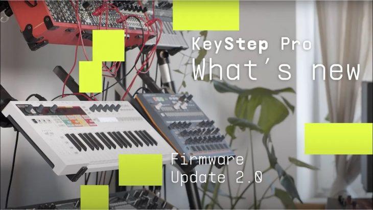 arturia keystep pro update 2.0 sequencer keyboard