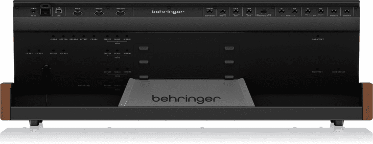 behringer monopoly synthesizer rear panel